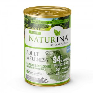 NATURINA Elite Wet Adult Wellness 400g - 94% Łosoś z Indykiem