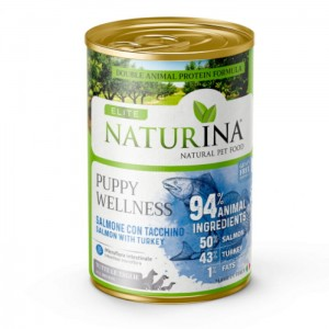 NATURINA Elite Wet Puppy Wellness 400g - 94% Łosoś z indykiem