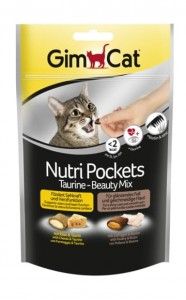GIMCAT NUTRI POCKETS TAURYNA BEAUTY MIX 150G