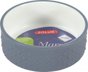 ZOLUX Miska gres  MARGOT 100 ml kol. szary