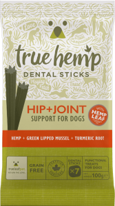 TRUE HEMP DENTAL STICK Z KONOPIAMI (Large-125g) - BIODRA + STAWY