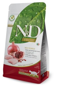 FARMINA N&D CAT PRIME CHICKEN & POMEGRANATE NEUTERED 1,5 KG