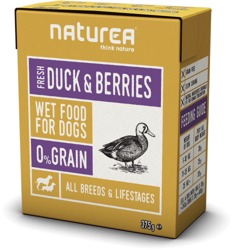 Naturea mokra karma dla psa Duck and berries.png